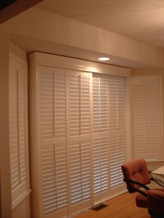 Indoor Shutters On Track System. Sliding Door ...