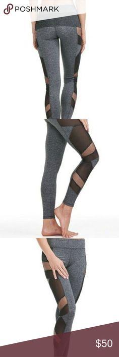 Charcol leggings Never worn Charcoal leggings with blackmesh panel details Electric Yoga Pants Leggings
