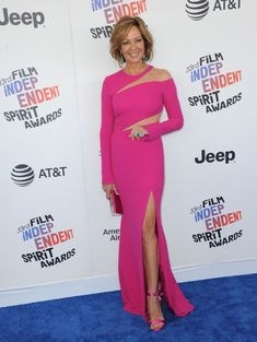 Celebrity red carpet and street style, see what Gigi Hadid, Bella Hadid, Winnie Harlow and Sophie Turner have been wearing this week. Allison Janney, Fuchsia Dress, Winnie Harlow, Spirit Awards, Celebrity Red Carpet, Bella Hadid, Daily Fashion, Street Style