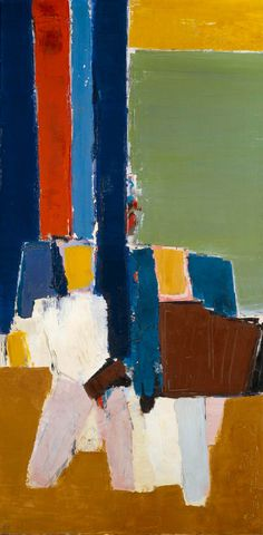 Nicolas de Staël, Le Lavendou, 1952, Oil on canvas, 195 x 97 cm, Musée Nationale d'Art Moderne, Paris