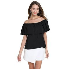 Special Offer: $12.99 amazon.com EOVVIO Women's Strapless Ruffles Off Shoulder Blouse Loose Tops Great for Spring,Summer and Autumn,Party,club,Beach or even night out. Unique style,make you beautiful,fashionable,comfortable,sexy and elegant. About Product: Material: Soft Chiffon...