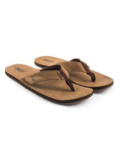 ab6f4e4d7ab6 Reef Smoothy Leather Flip Flops (bronze brown). Mens Large Flip Flops  Available in Size 13-16.  BigFeet  Size13  Size14  Size15  Size16  FlipFlops