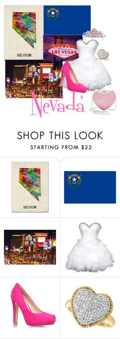 """""""Nevada (50 states Challenge)"""" by grace-buerklin ❤ liked on Polyvore featuring Trademark Fine Art, Annin, TIARA, Miss KG, Effy Jewelry, Whiting & Davis, women's clothing, women, female and woman"""