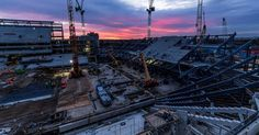 Spurs are set to move into the new ground at the start of next season after spending this season at Wembley