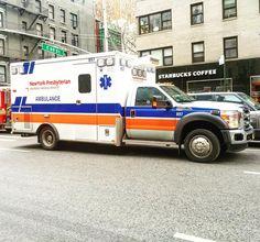 NY PRESBYTERIAN HOSPITAL EMS AMBULANCE OPERATING AT A 2ND ALARM FIRE IN MANHATTAN NEW YORK CITY..... by themajestirium1