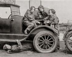 School Girl Car Mechanics