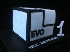 Tarta para rueda de prensa de Evo Bank