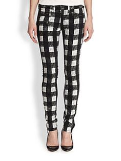rag & bone/JEAN - Buffalo Plaid Skinny Jeans