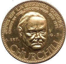 1959 Venezuela WINSTON CHURCHILL WWII Commemorative Silver Coin Quality i53780