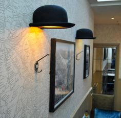 Jake Phipps's Brilliant Jeeves Bowler Hat Wall Sconce - 3