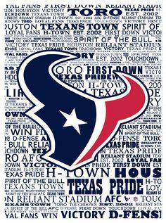 Houston Texans typography (Marmaxx)