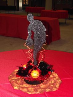 Another Centerpiece I Made For A Bar Mitzvah. Basketball Theme