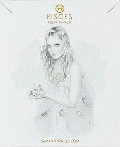 kelly smith illustration & samantha wills jewelry // pisces.   #pisces #astrology