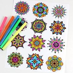 Free printable mandala coloring pages for kids, adults and seniors. Lots of fun and a great form of art therapy. by Breanna M. Hopkins