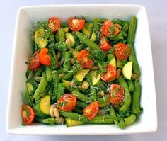White Bean Salad with Zucchini, Green Beans, and Tomatoes Recipe on Yummly