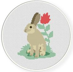 FREE Bunny Cross Stitch Pattern