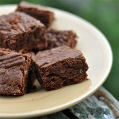 "Fudgy Brownies I ""A chewy, fudgy, brownie that is easy to make. This is great because it uses things that you may already have on hand."""