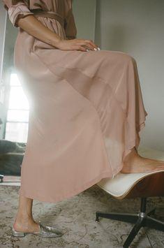 Blushed Silk Kimono Dress - Silk