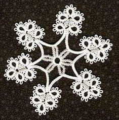 LABORES AMPARITO: Patrón Copo de nieve en frivolité