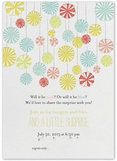 gender reveal party invite!