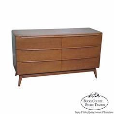 Heywood Wakefield Champagne Mid Century Modern Maple Dresser (A)  #MidCenturyModern