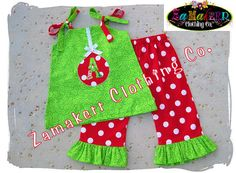 Custom Boutique Clothing Cute Christmas by ZamakerrClothingCo, $44.99