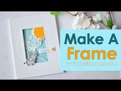Today I am at Waffle Flower Crafts and I decided to make my very own 'bespoke' rectangle frame. I seriously have so many ideas flying around in my head now that I've made one, so I already know you will be seeing more of them here. I used the A2 Nesting Rectangles 2 Dies to…