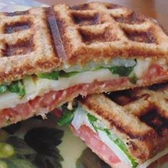 Waffle Sandwich with Cheese, Spinach and Spicy Mustard - Allrecipes.com