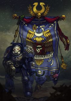I have an amazing commission. All i have to do is draw majestic warhammer banners for man's army ) looove it Ultra Company Sunradio Warhammer 40k Memes, Warhammer Art, Warhammer 40k Miniatures, Warhammer Fantasy, Warhammer 40000, Space Marine, Fantasy Miniatures, Fantasy Illustration, Character Portraits