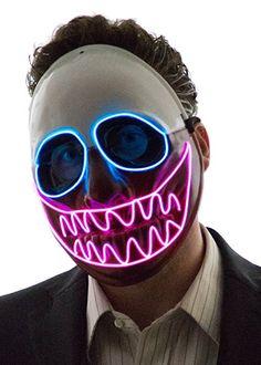 Neon Nightlife Men's Light Up Creepy Puppet Mask $34.99 & FREE Shipping