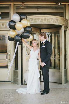 Mariage d'inspiration Art Déco / Art Deco inspired #wedding
