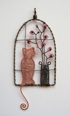 Watching The World Go By - Wire Art: