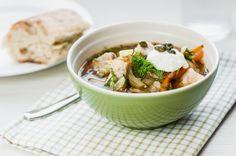 Kalaseljanka, täyteläinen kalakeitto! Soup, Ethnic Recipes, Eat, Soups