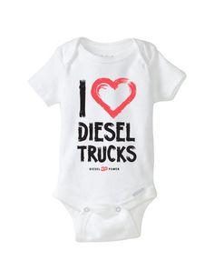 I Love Diesel Trucks Onesie