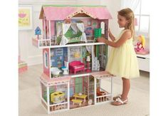 Furnished Wooden Dollhouse Barbie Dream House Mansion Girls Playhouse Furniture for sale online Dreamhouse Barbie, Barbie Doll House, Barbie Dream House, Barbie Dolls, Dream Doll, Mattel Barbie, Wooden Dollhouse, Dollhouse Dolls, Castle Dollhouse