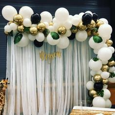 Balloon garland kit Whiteblack and gold balloon garland kit