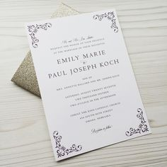 Congrats to Emily & Paul getting married this weekend.  Wishing this beautiful couple a lifetimes of happiness!  #dsy #customdesign #weddinginvitations #omahawedding #omahabride #nebraskawedding #nebraskabride #eggplant #goldglitter #gold #weddingstationery #danaosborne