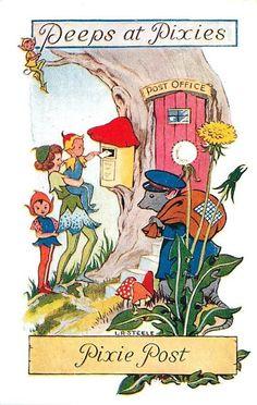 Vintage postcards by L. R. Steele