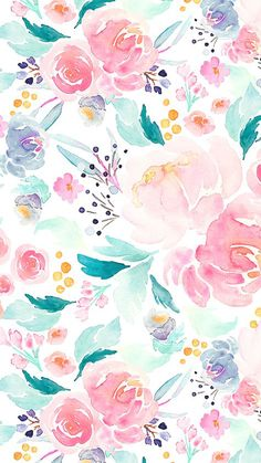Wallpaper 41 besten Ideen Blumen Aquarell Tapete Druckmuster Kids party games have never so Flower Backgrounds, Flower Wallpaper, Wallpaper Backgrounds, Wallpaper Ideas, Spring Backgrounds, Fabric Wallpaper, Wallpaper Patterns, Painting Wallpaper, Trendy Wallpaper