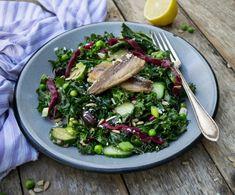 kale and sardine salad