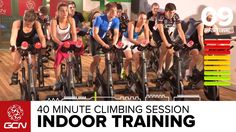 40 Minute Intense Cycle Training Workout - Hill Intervals