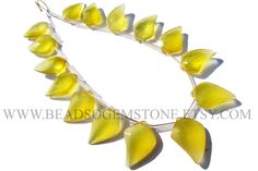 Semiprecious Stone, Yellow Chalcedony Faceted Dagger (Quality AAA) / 9.5x15 to 12.5x17.5 mm / 18 cm / CHALCEDON-082 by beadsogemstone on Etsy #yellowbeads #gemstonebeads #semipreciousstone #briolettes