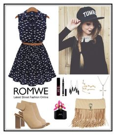"""Romwe 10"" by amra-f ❤ liked on Polyvore featuring Charlotte Russe, Marc Jacobs, Yves Saint Laurent, Ermanno Scervino, NYX and romwe"