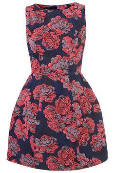 Blue/Pink Floral Lantern Dress