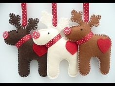 Wonderful DIY Felt Ornaments For Christmas is part of Felt crafts Xmas - If you want to create something interesting and sweet for the Christmas holiday, try these cute Felt Christmas ornaments for your home or give as Felt Christmas Decorations, Felt Christmas Ornaments, Noel Christmas, Homemade Christmas, Hanging Decorations, Reindeer Decorations, Reindeer Christmas, Christmas Gifts, Christmas Markets