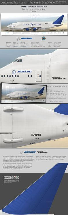 Boeing 747-409LCF Dreamlifter Boeing op. Atlas Air N249BA | www.aviaposter.com | #airliners #aviation #jetliner #airplane #pilot #aviationlovers #avgeek #jet #airport #pilotlife #jumbojet
