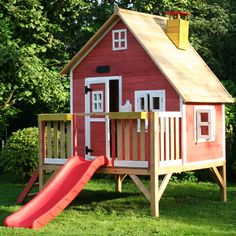 Crooked Penthouse Wooden Playhouse £649