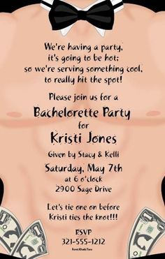 Not sure how appropriate this is. But it's so cute for Heather's bachelorette party. Don't forget your dollar bills girls.
