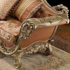Raphael Loveseat arm detail...Baroque Sofa