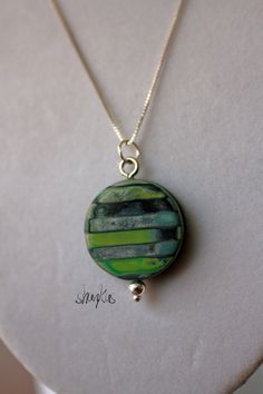 Polymer Clay Pendant  WEARABLE ART by shankas on Etsy, $20.00